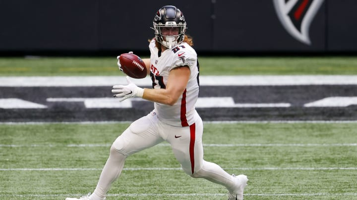 Three of the most likely trade destinations for Atlanta Falcons tight end Hayden Hurst.