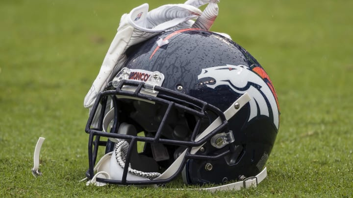 Single Broncos Helmet