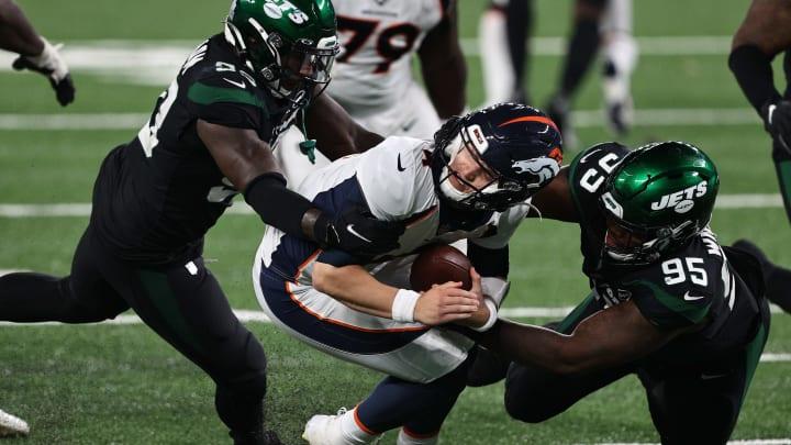 Brett Rypien gets tackled.