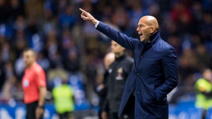 Zinedine Zidane a joué son premier match en tant qu'entraîneur face au Deportivo la Corogne