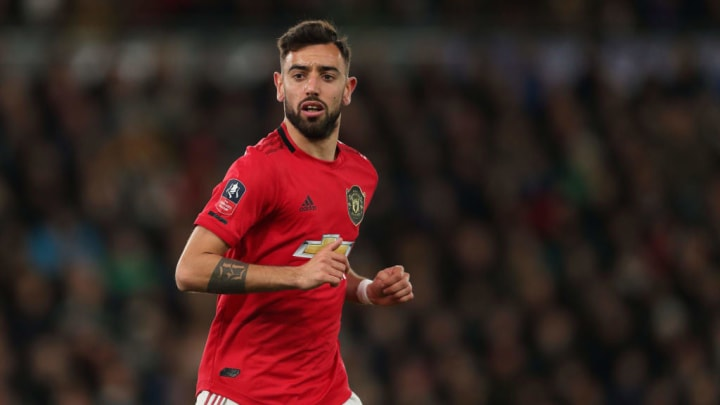 Bruno Fernandes was unbeaten in his first nine games for Manchester United prior to the suspension of play