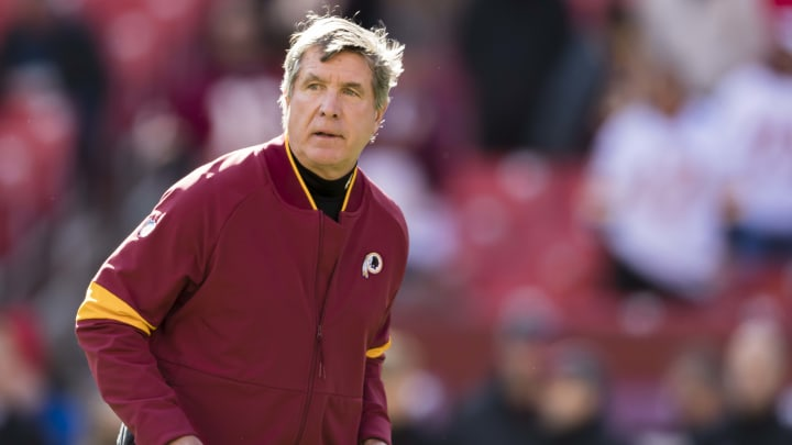 LANDOVER, MD - NOVEMBER 24: Head coach Bill Callahan of the Washington Redskins looks on before the game against the Detroit Lions at FedExField on November 24, 2019 in Landover, Maryland. (Photo by Scott Taetsch/Getty Images)