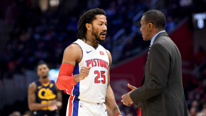 Derrick Rose and Dwane Casey in Detroit.