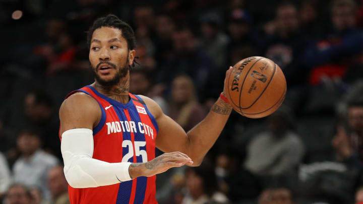 Derrick Rose podría salir de los Detroit Pistons antes de la fecha límite de traspasos en la NBA