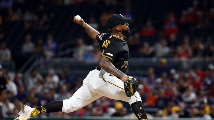 PITTSBURGH, PA - JUNE 19:  Felipe Vazquez #73 of the Pittsburgh Pirates pitches in the ninth inning against the Detroit Tigers during inter-league play at PNC Park on June 19, 2019 in Pittsburgh, Pennsylvania.  (Photo by Justin K. Aller/Getty Images)