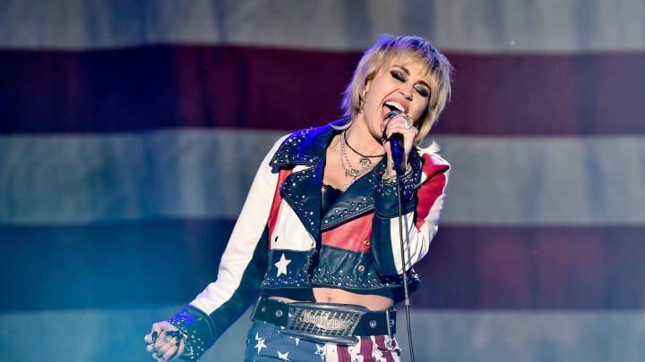 Miley Cyrus on New Year's Rockin' Eve.