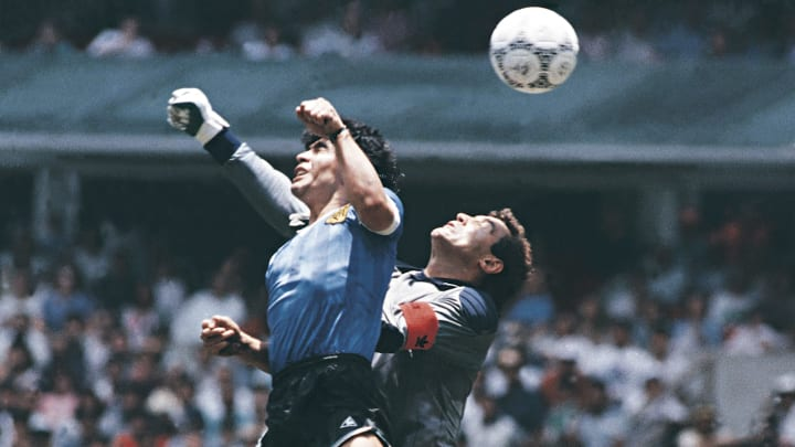 """""""La main de Dieu"""" de Diego Maradona en 1986"""