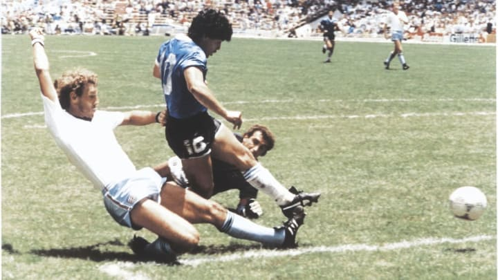 Diego Maradona scoring the greatest goal of all time