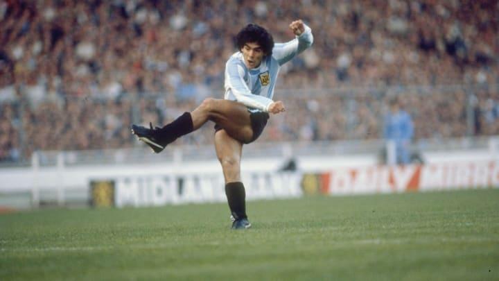 Diego Maradona avec l'Argentine en 1985