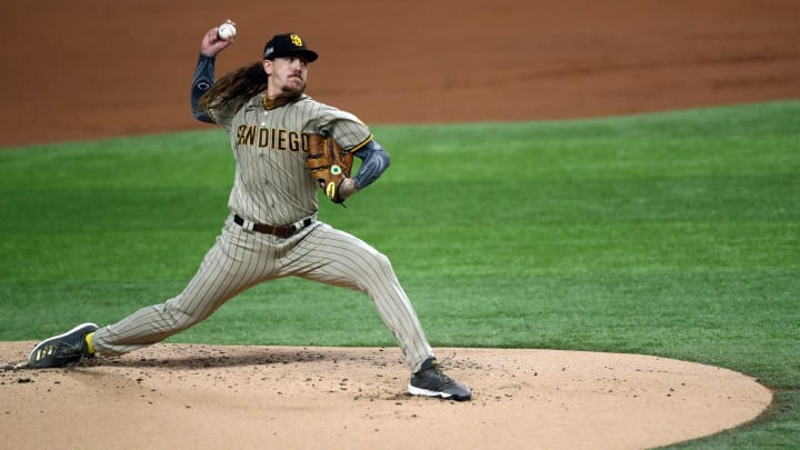Mike Clevinger, Division Series - San Diego Padres v Los Angeles Dodgers - Game One