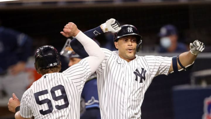 Giancarlo Stanton has driven in 64 runs in 104 games played for the New York Yankees in this 2021 campaign