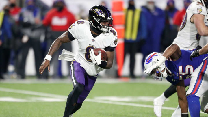 Lamar Jackson, Divisional Round - Baltimore Ravens v Buffalo Bills