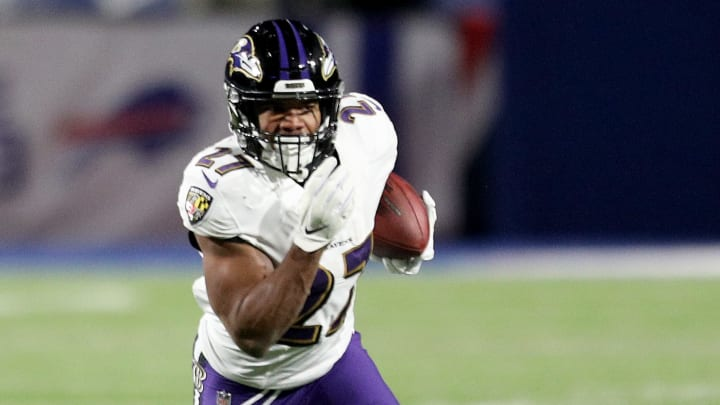 A possible breakout year for Baltimore Ravens running back J.K. Dobbins could make his fantasy potential soar.