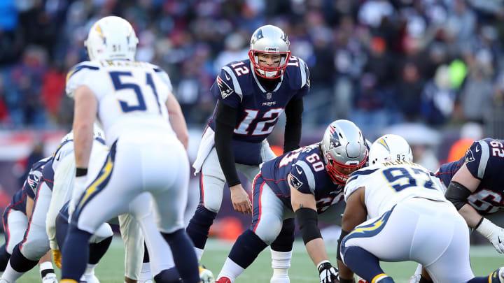 New England Patriots QB Tom Brady vs the Los Angeles Chargers