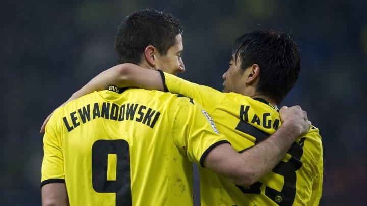 Dortmund's Polish striker Robert Lewando