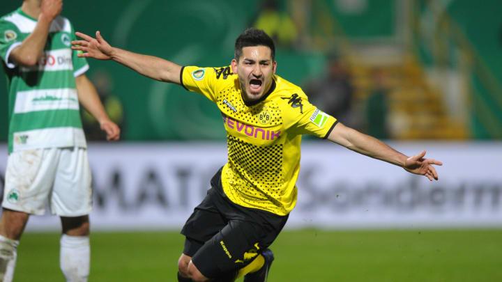 Dortmund's midfielder Ilkay Guendogan ce