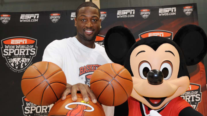 Dwayne Wade and Mickey Mouse