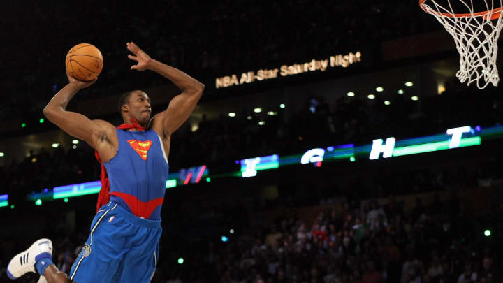 Dwight Howard Superman dunk in the 2008 Slam Dunk Contest