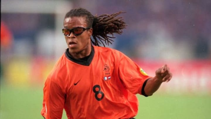Edgar Davids playing for the Netherlands at Euro 2000