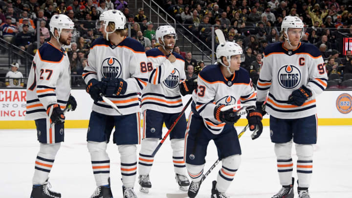 Mike Green, Connor McDavid, Tyler Ennis, Andreas Athanasiou, William Lagesson