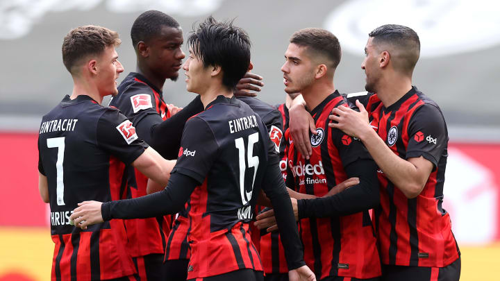 Eintracht Frankfurt beim Torjubel