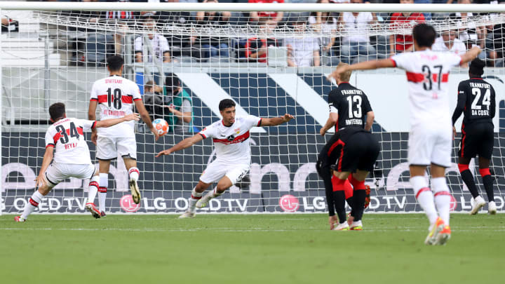 Omar Marmoush brachte dem VfB einen Zähler in Frankfurt