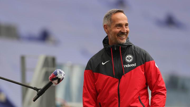 Adi Hütter wird die Eintracht nach Saisonende in Richtung Gladbach verlassen.