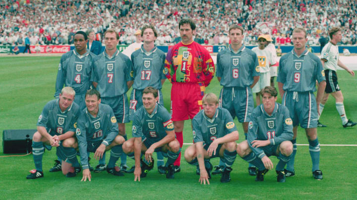 The England team ahead of their semi-final clash with Germany