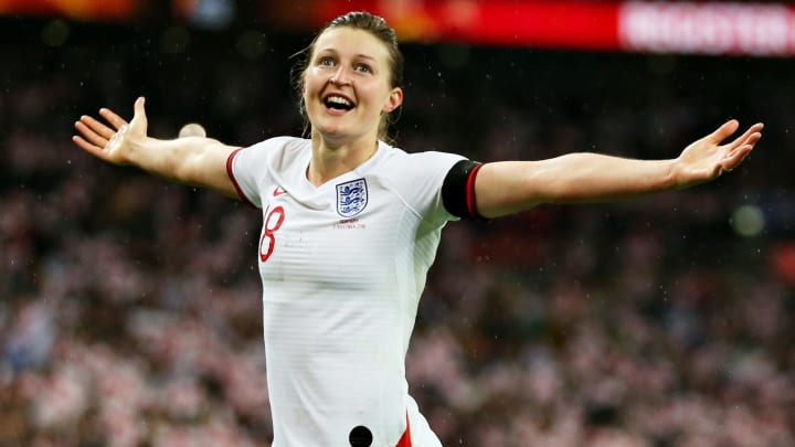 Ellen was a hat-trick hero on England's overdue return to action