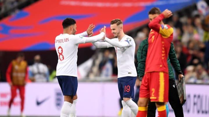 James Maddison comes on to make his England debut
