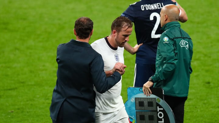Harry Kane was withdraw against Scotland