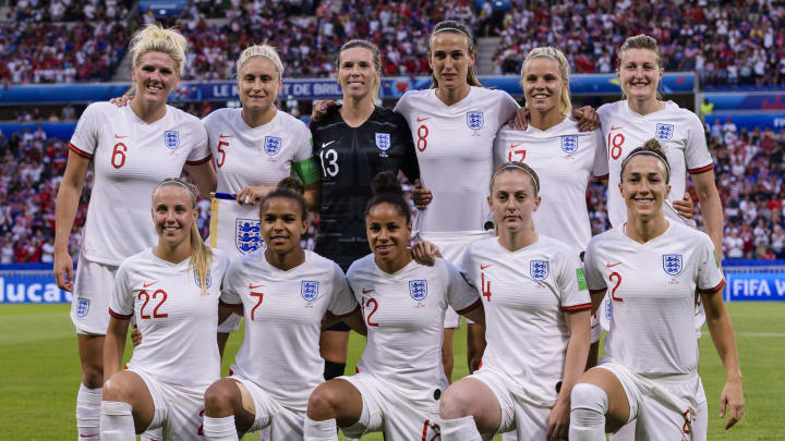 Millie Bright, Steph Houghton, Carly Telford, Jill Scott, Rachel Daly, llen White, Beth Mead, Nikita Parris, Demi Stokes, Keira Walsh, Lucy Bronze
