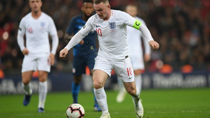 LONDON, ENGLAND - NOVEMBER 15:  Wayne Rooney of England runs with the ball during the International Friendly match between England and United States at Wembley Stadium on November 15, 2018 in London, United Kingdom. (Photo by Shaun Botterill/Getty Images)