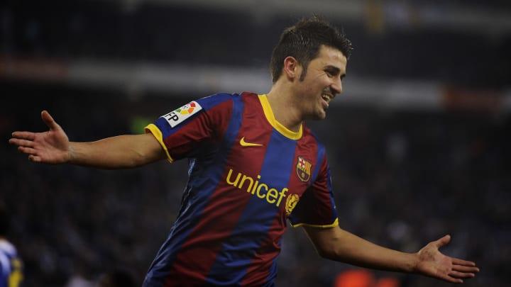 David Villa Pep Guardiola Barcelona Real Madrid El Classico