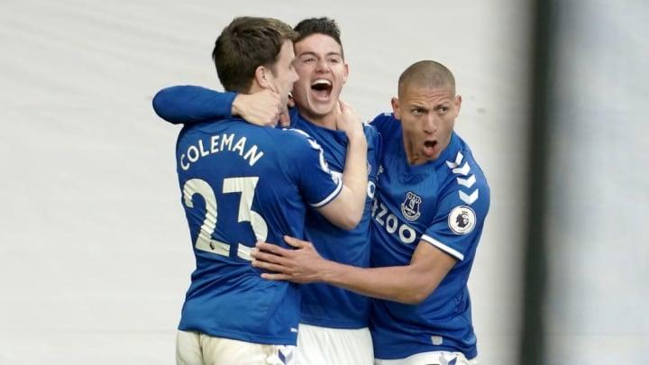 James Rodriguez, Seamus Coleman, Richarlison Everton