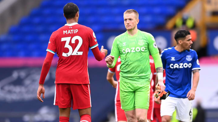 Jordan Pickford quickly apologised for his tackle on Virgil van Dijk