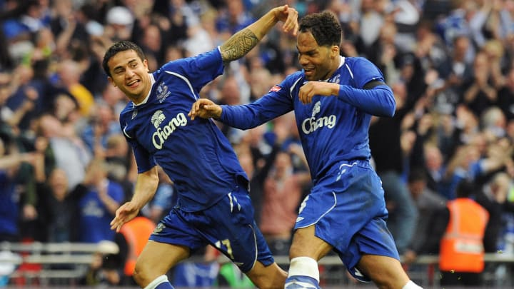 Everton's Australian player Tim Cahill (