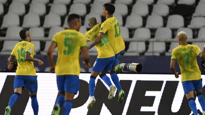 Brasil garantiu vaga na final   FBL-2021-COPA AMERICA-BRA-PER