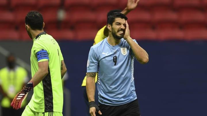 Luis Suárez no convirtió goles en la Copa América.