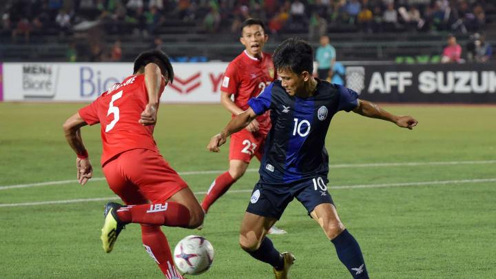 Ilustrasi laga Laos vs Kamboja