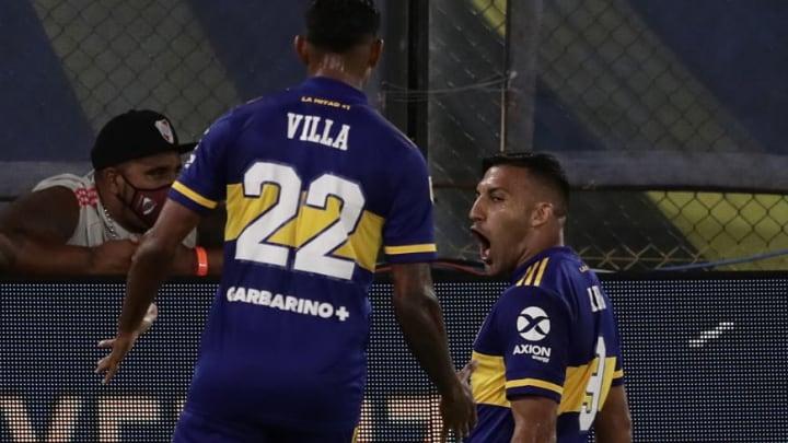 FBL-ARGENTINA-BOCA-RIVER - Abila marcó en el Superclásico.