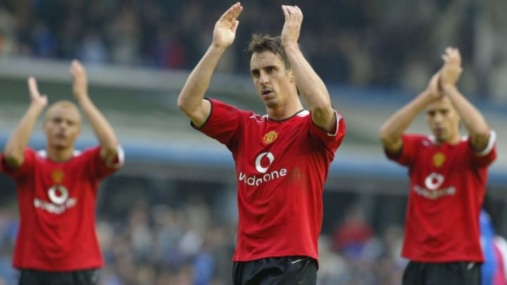 Gary Neville missed out on a Premier League winners medal on two occasions