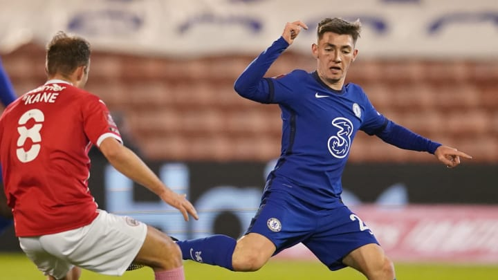 Billy Gilmour was handed his chance from the off against Barnsley
