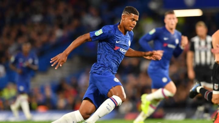 Anjorin on his Chelsea debut against Grimsby