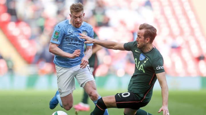 De Bruyne e Harry Kane são algumas das estrelas do futebol ingês