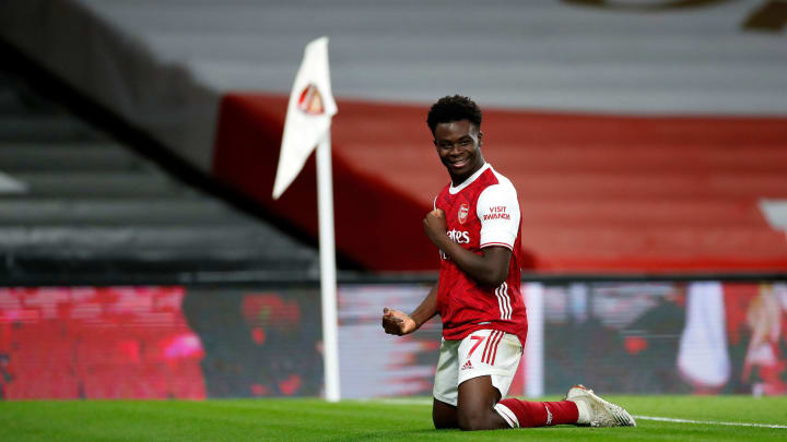 Bukayo Saka scored a fine goal against Chelsea, whether he meant it or not