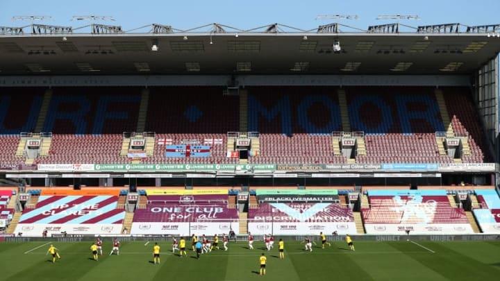 Im kleinen Stadion von Burnley fielen die fehlenden Zuschauer finanziell kaum ins Gewicht