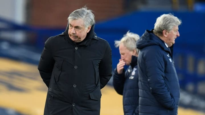 Carlo Ancelotti in Everton's draw with Crystal Palace