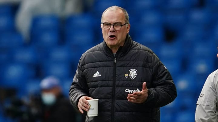 Leeds manager Marcelo Bielsa during their draw with Man Utd