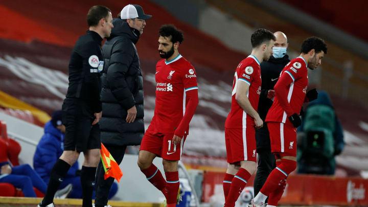 Salah wasn't happy when Klopp brought him off
